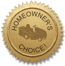 Logo for Homeowner's Choice for Lawn Mowers and Garden Tractors